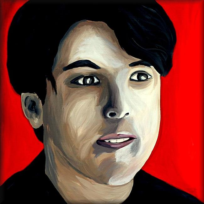 Art: Portrait of Guy David by Artist Amanda Hone