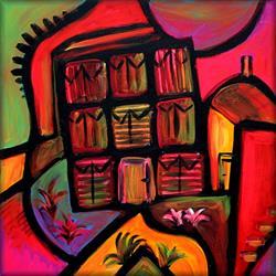 Art: The Old Barns by Artist Amanda Hone