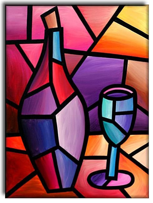 A Good Year - by Amanda Hone from Contemporary Cubism Art Gallery