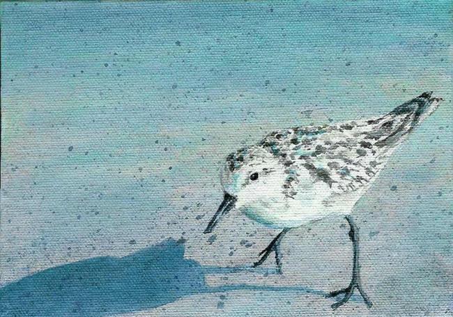 Art: Sanibel Sanderling (Sold) by Artist Kimberly Vanlandingham