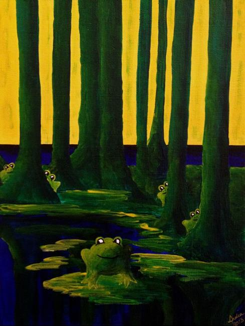 Art: Lots of Frogs by Artist Indiamoss