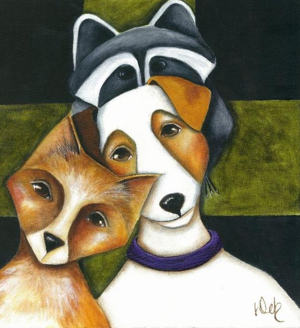 Art: Forest Friends II by Artist Deb Harvey