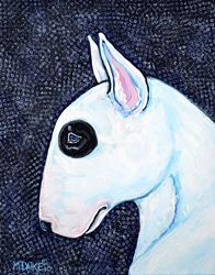 Art: Bull Terrier with Spots by Artist Melinda Dalke