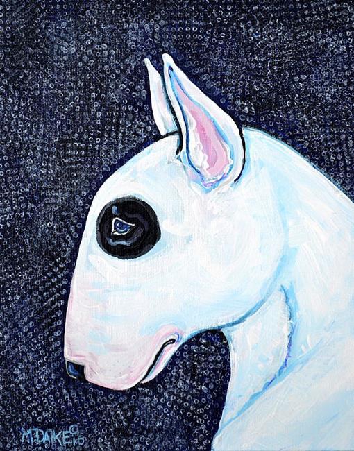 Art: Bull Terrier with Spots by Artist Melinda Dalke
