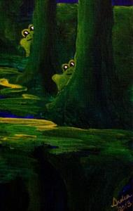 Detail Image for art Lots of Frogs