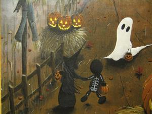Detail Image for art Halloween Illustration: Did He Just Move