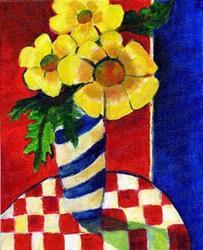 Art: Floral du Renie Britenbucher by Artist Susan Frank