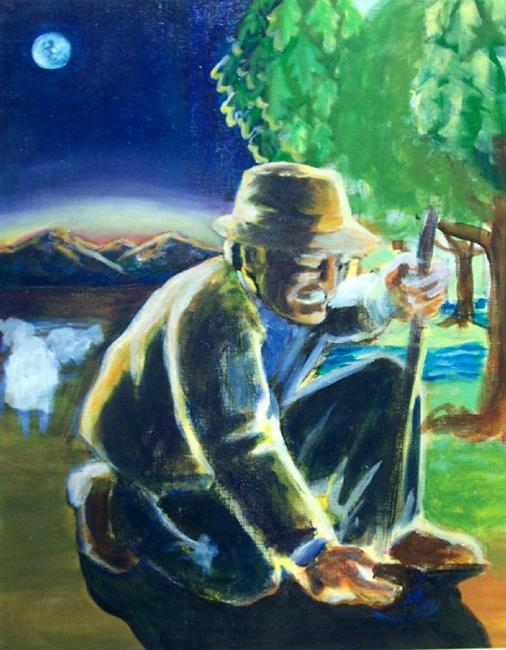 Art: WIP - The Man Who Planted Trees by Artist Madeline  Carol Matz