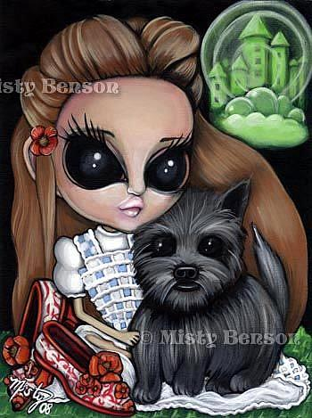 Art: No Place Like Home - Dorothy & Toto by Artist Misty Monster (Benson)