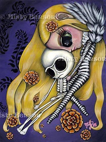 Art: Going Home - El Dia de Los Muertos Art by Artist Misty Monster (Benson)
