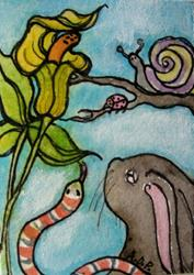 Art: ACEO May 'Theme Week' Challenge: 'Jack-in-the-Pulpit by Artist Patience