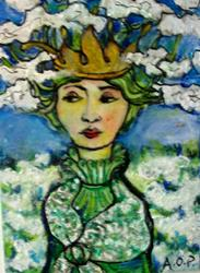Art: ACEO May 'Theme Week' Challenge: 'Queen Anne's Lace' by Artist Patience