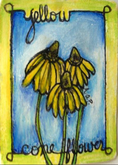 Art: ACEO 'Theme Week' Challenge: 'Yellow Coneflower by Artist Patience