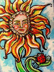 Art: ACEO 'Theme Week', 'The Bossy Blossom'.... by Artist Patience