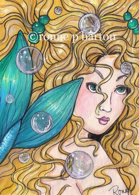 Art: Queen of Mermaids by Artist Ronne P Barton
