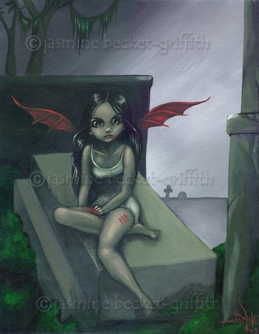 Art: Midnight Thirst by Artist Jasmine Ann Becket-Griffith