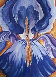 Art: Burning Iris by Artist Melanie Douthit