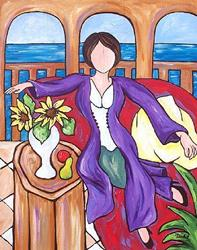 Art: Matisse's Purple Robe by Artist Melanie Douthit