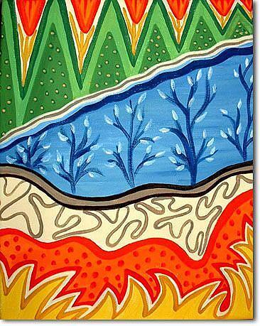 Art: Seasons of the Samurai by Artist Doris H. David