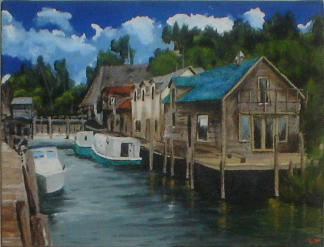 Art: Fish town by Artist Lisa Thornton Whittaker