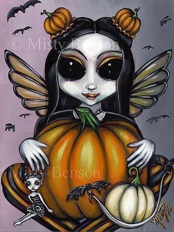 Art: Pumpkin Procession by Artist Misty Monster (Benson)