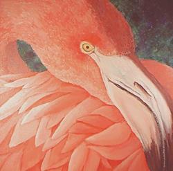 Art: Flamingo (Private Collection) by Artist Kimberly Vanlandingham