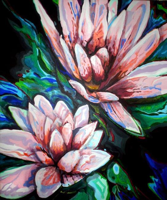 Art: Water Lilies by Artist Lisa Thornton Whittaker