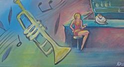 Art: Jazz Night by Artist Aimee L. Dingman
