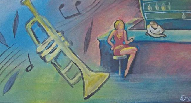 Art: Jazz Night by Artist Aimee L. Dingman