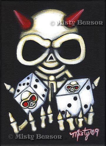 Art: Roll Em by Artist Misty Monster (Benson)