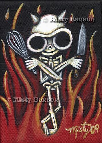 Art: Culinary Skelly by Artist Misty Monster (Benson)