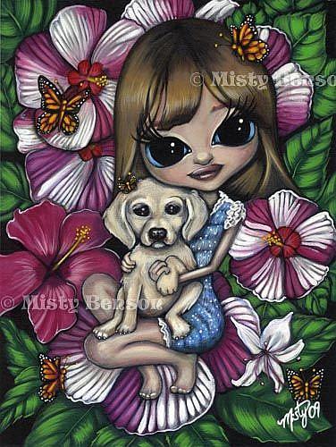 Art: Two Honeys by Artist Misty Monster (Benson)