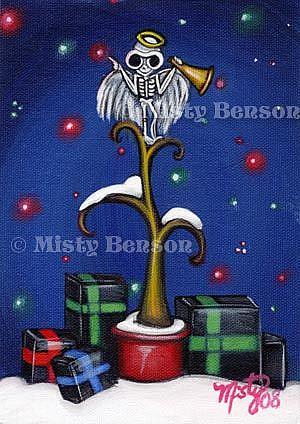 Art: Skelly Tree Topper by Artist Misty Monster (Benson)