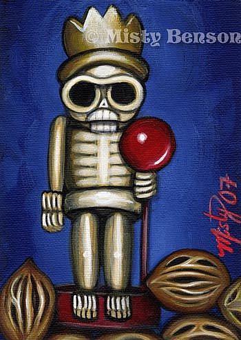 Art: Skelly Nutcracker by Artist Misty Monster (Benson)