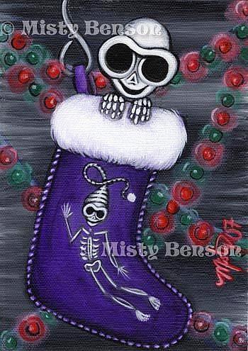 Art: Stocking Skelly by Artist Misty Monster (Benson)