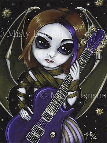 Art: Creature of Guitar by Artist Misty Monster (Benson)