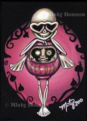 Art: Love Daruma Skelly by Artist Misty Benson