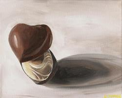 Art: Trio of Chocolates by Artist Aimee L. Dingman