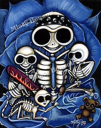 Art: Skelly Family Portrait by Artist Misty Monster (Benson)