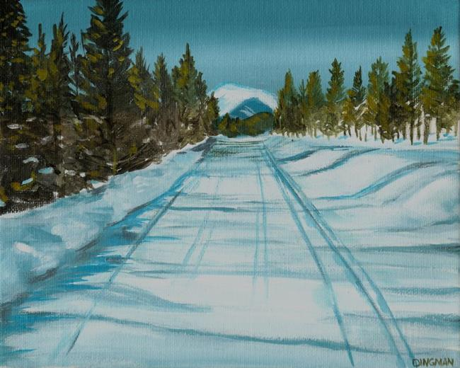 Art: Snowy Road by Artist Aimee L. Dingman