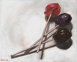 Art: Tootsie Pop Pin Drop by Artist Aimee L. Dingman