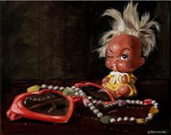 Art: Remnants of Childhood II: Hearts by Artist Aimee L. Dingman
