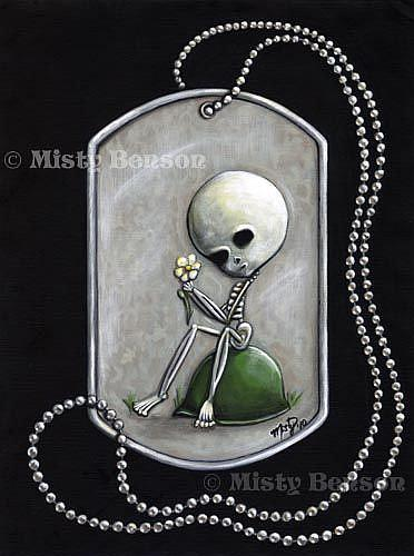 Art: Stillness - Military Skeleton Art by Artist Misty Monster (Benson)