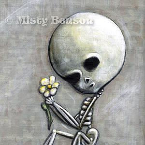 Detail Image for art Stillness - Military Skeleton Art