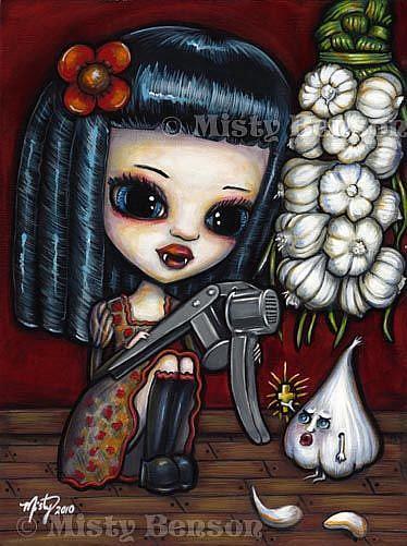 Art: Vampires Like Garlic, Too by Artist Misty Monster (Benson)