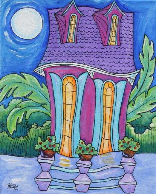 Art: Jazzy Shotgun House SOLD by Artist Melanie Douthit