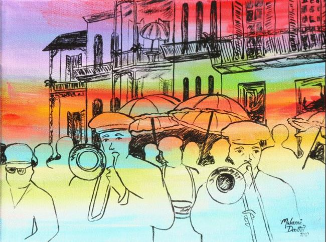 Art: Jazz Funeral by Artist Melanie Douthit
