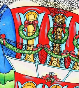 Detail Image for art Christmas in the French Quarter