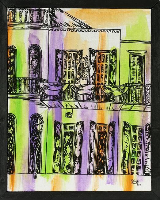 Art: Mardi Gras Balcony by Artist Melanie Douthit