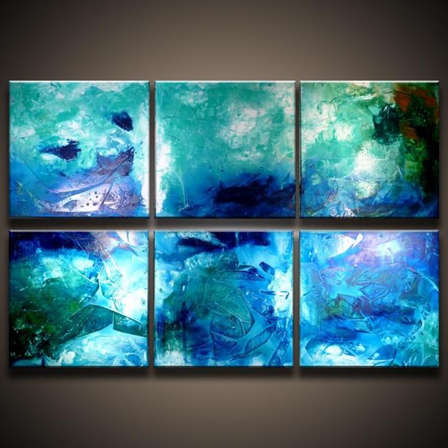 Art: Composition Blue bg.jpg by Artist Peter D.